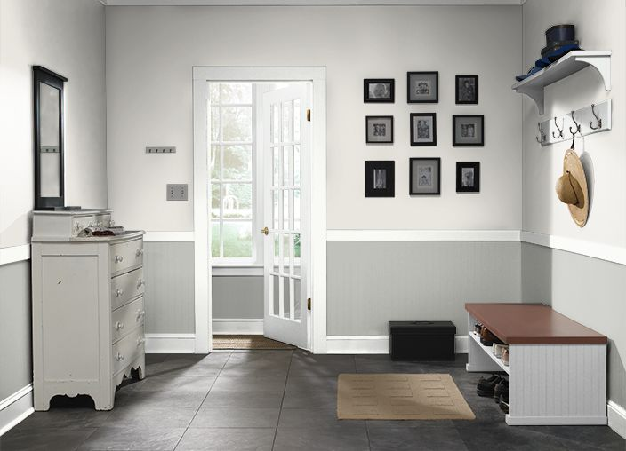 Behr Weathered White Upw Weathered Moss Tan Walls