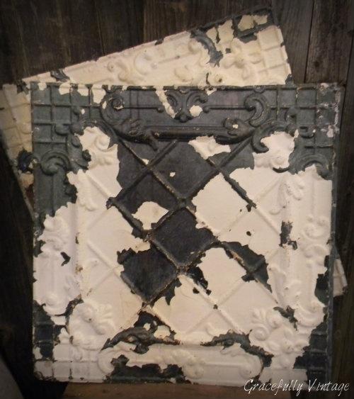 Antique Chippy Ceiling Tiles Chips N Rust Pinterest