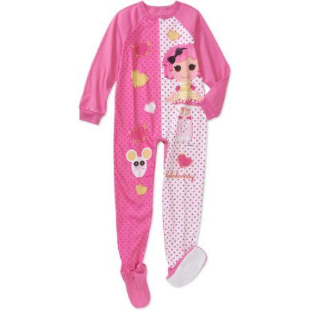 Lala Loopsy - Girls' Footed Blanket Sleeper Pajamas, Pink