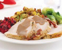 Roast And Turned Turkey With Orange Pecan Stuffing