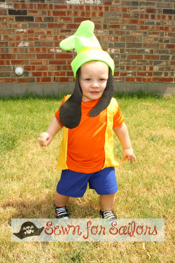 Disney Goofy Inspired shirt shorts set / Clothes/ Costume / dress up / outfit for boys 1234