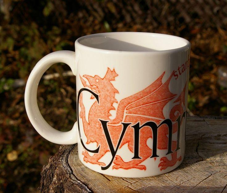 Starbucks Coffee Company Cymru Wales City Mug Collector Series Mug 2002 Welsh  | eBay
