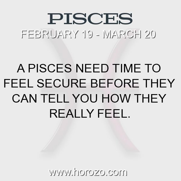 Fact about Pisces: A Pisces need time to feel secure before they can tell... #pisces, #piscesfact, #zodiac. Pisces, Join To Our Site https://www.horozo.com  You will find there Tarot Reading, Personality Test, Horoscope, Zodiac Facts And More. You can also chat with other members and play questions game. Try Now!