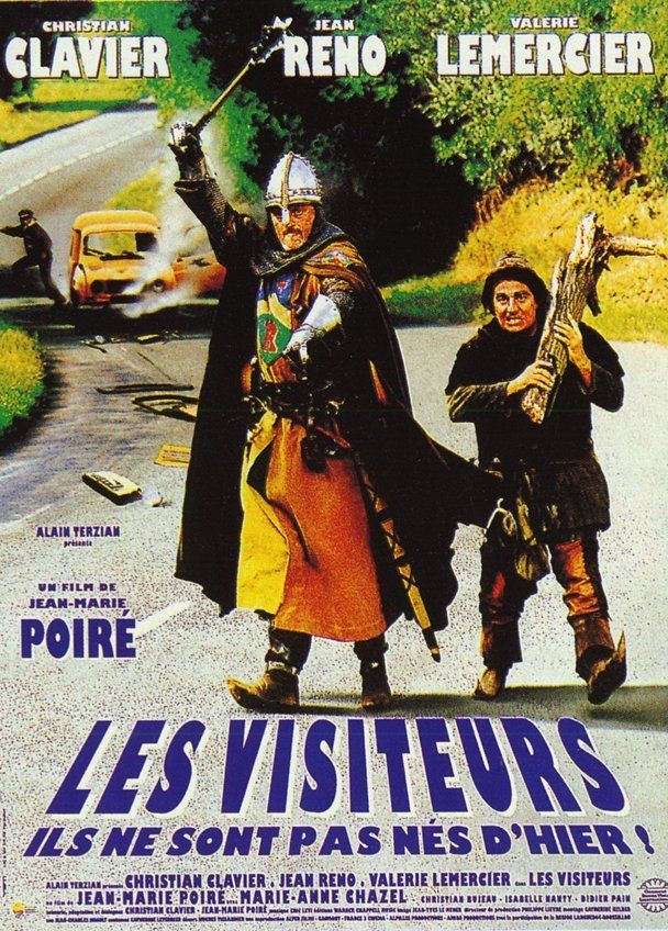 Les Visiteurs est un film français réalisé par Jean-Marie Poiré, tourné en 1992 et sorti en 1993. Il est aujourd'hui considéré comme l'une des comédies populaires les plus célèbres du cinéma français, et a pris le statut de film culte. Wikipédia