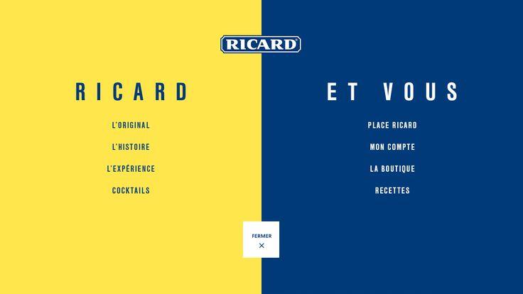 Ricard - Menu