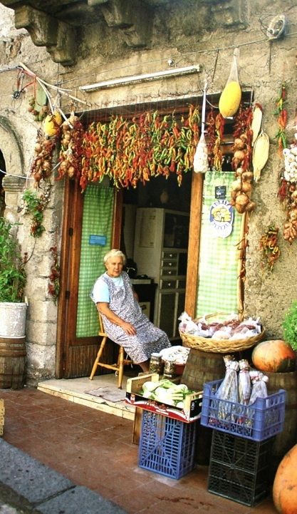 Nonna Resting, Sicily - well deserved, she probably cooks, gardens, and cleans from sun up to sun down and all bent over like the lovely Italian woman, Katherine who cared for and over(!)-fed my Meghan in Montreal