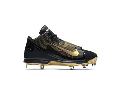 Nike Air Swingman Legend (Gold Finish) Men's Baseball Cleat, Black/Metallic  Gold