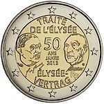 2euro  2013 Francia-Germania
