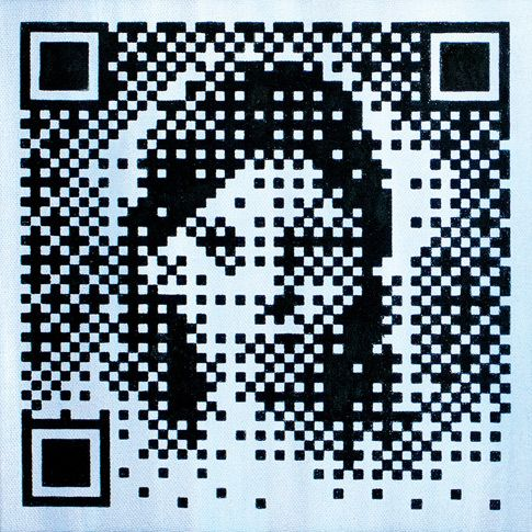 Steven Makse - Friend or Faux – Ella  Hand-made screenprinted acrylic on canvas - 20 x 20cm $85-