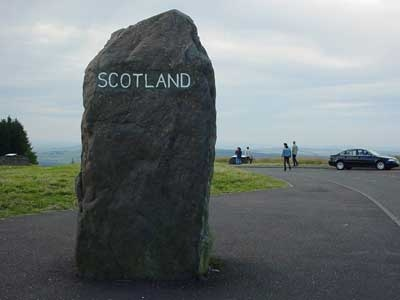 Border between England/Scotland.