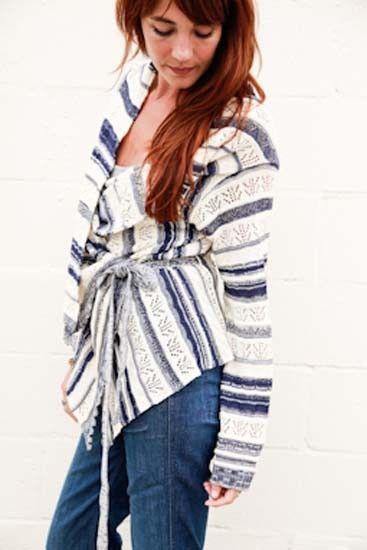 Goddis Meg Wrap Sweater in Mariner