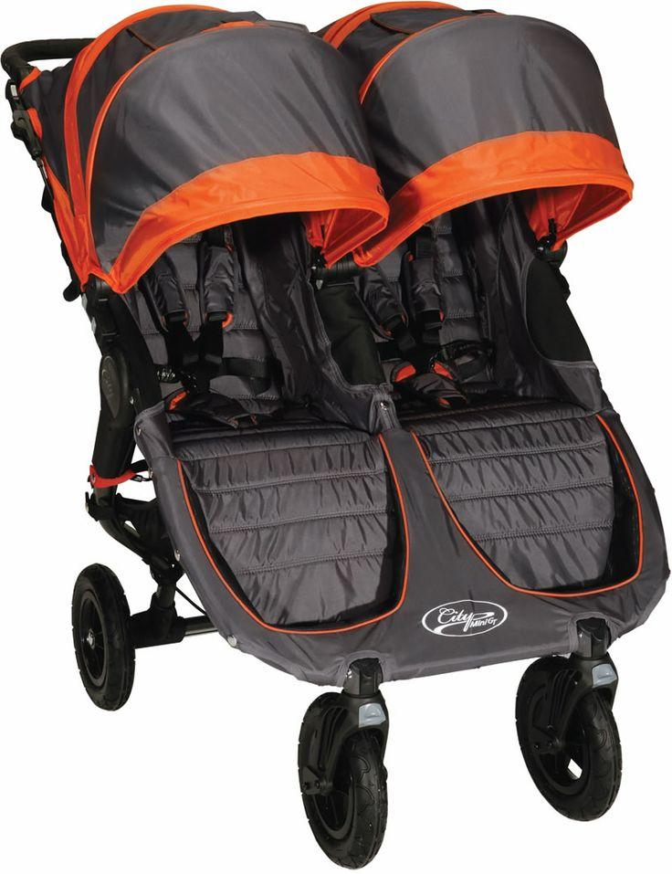 Baby Jogger City Mini Gt Double 2013 Stroller Shadow Orange