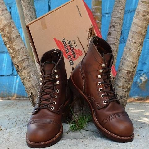 Red Wing 8111 Iron Ranger Amber Harness Leather Boot , $320 #menboots #redwingboots