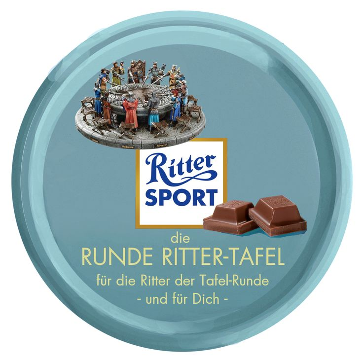 Ritter Sport Fake Sorte - runde Tafel - Tafelrunde