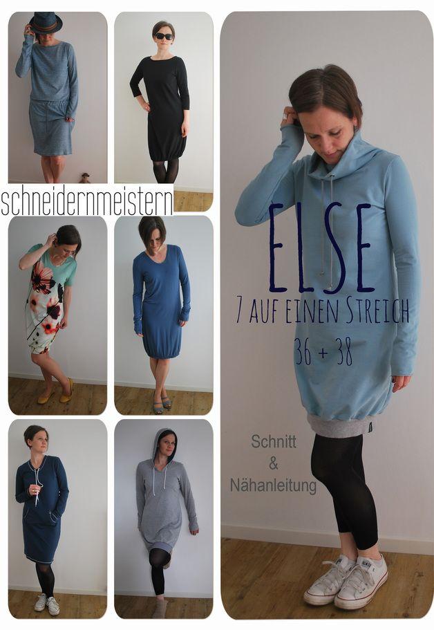 Ein Kleid für jede Gelegenheit! in den *Größen 36 und 38* Schnitt und Nähanleitung für mindestens 7 verschiedene Kleider nach einem variablen Grundschnitt. Das geniale Baukastensystem ermöglicht...