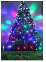 Fiber Optic Christmas Tree -  With Extra Color  LED Tree Lights  7 ft