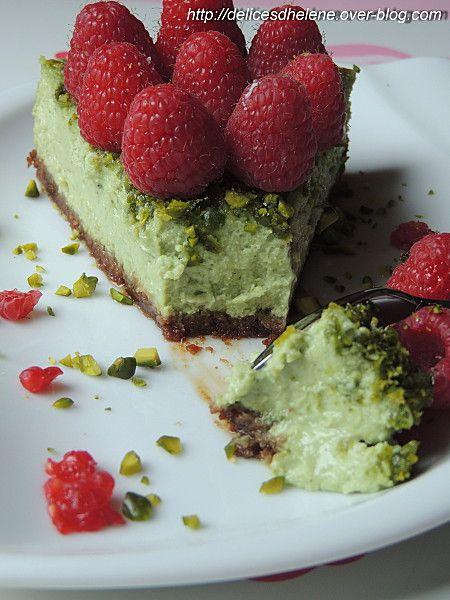 Cheesecake pistache-framboise