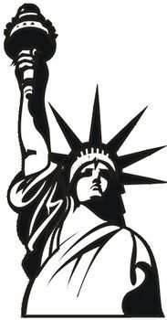 statue of liberty torch silhouette - Google Search