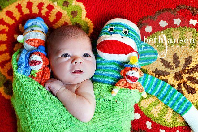 sock monkey photoshoot