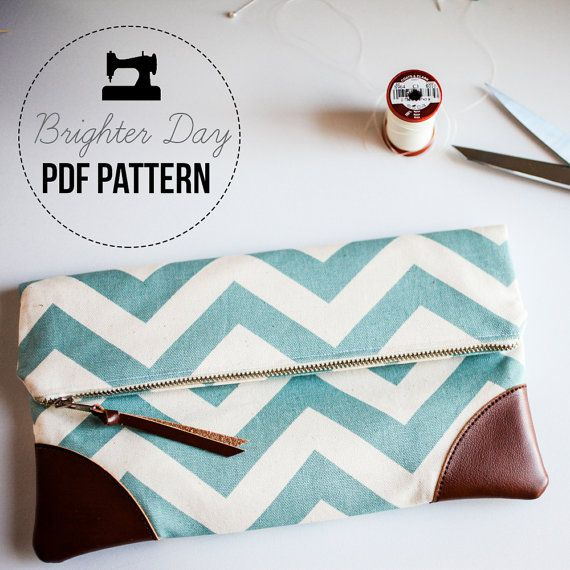 DIY Sewing Pattern & Tutorial Sydney Clutch by BrighterDay on Etsy, $8.00