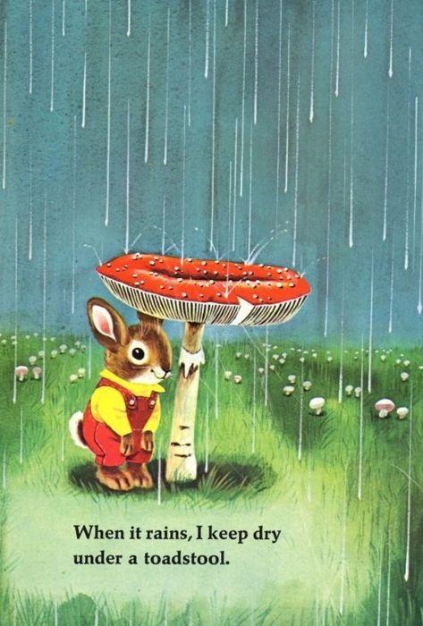 Richard Scarry Illustration from'I Am a Bunny'. #nostalgia