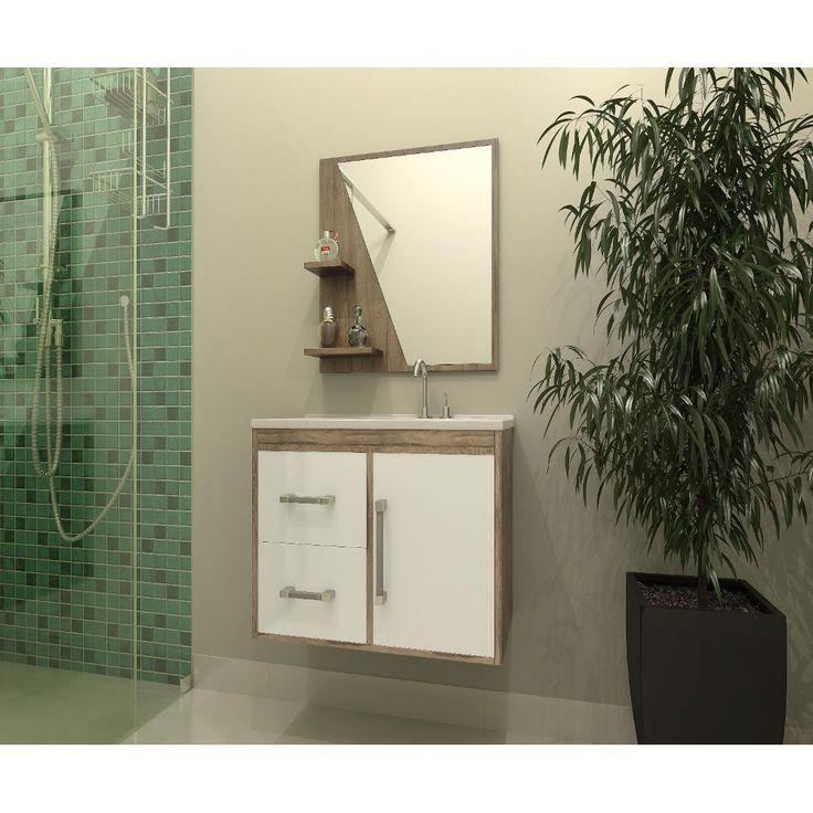 Gabinete Armário Para Banheiro Com Pia - Americanas.com
