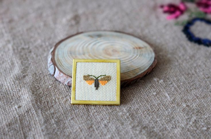A personal favorite from my Etsy shop https://www.etsy.com/listing/222810471/moth-brooch