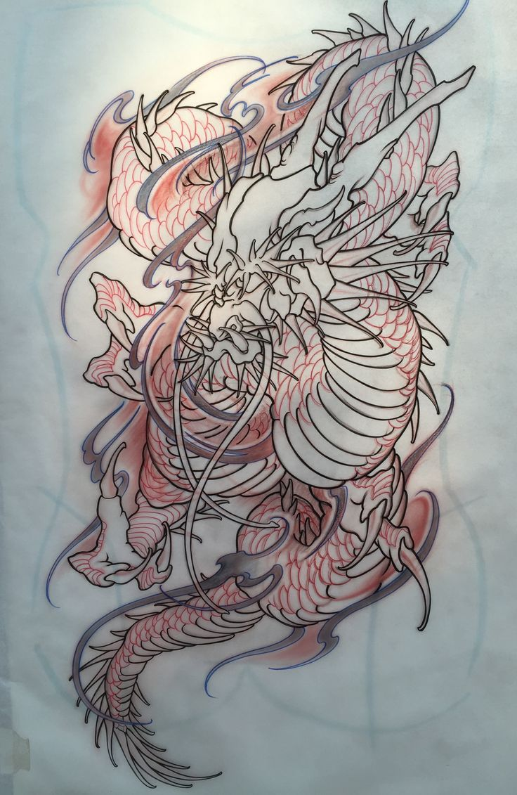 Amsterdam tattoo1825 kimihito dragon back piece japanese for Embossed tattoo designs