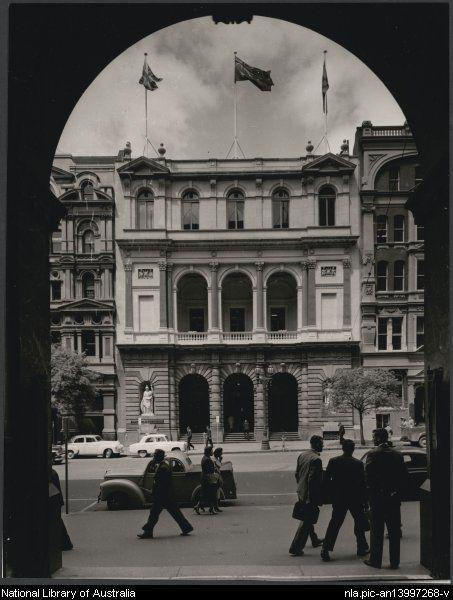 Demolished E S & A Bank, 271 Collins Street, Melbourne, 1957