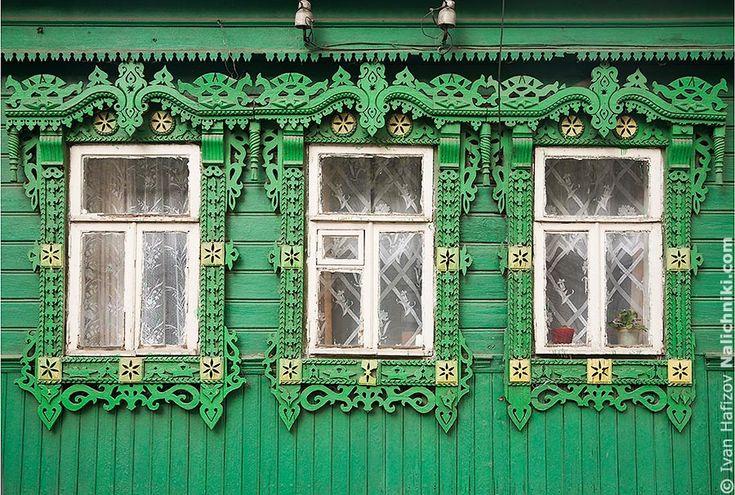 Ковровские окна с наличниками  Russia, Kovrov
