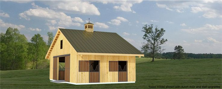 87 best images about barn on pinterest tack rooms run for 2 stall barn plans