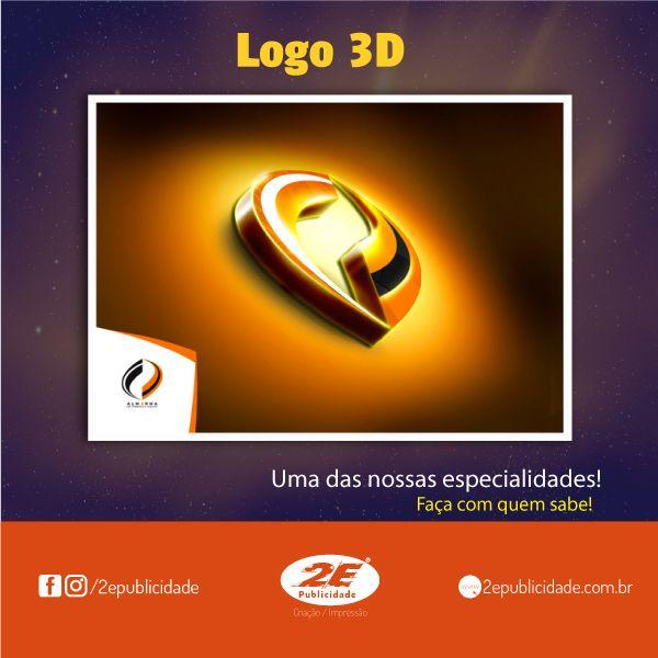 O logotipo 3D é uma maneira criativa de expressar a visão moderna da sua empresa.  É uma representação visual de cada elemento do seu logotipo. Fornece a aparência profissional de uma empresa estabelecida.    Como a primeira impressão é a que fica, venha transformar sua logo 2D em 3D. Faremos um projetado com paixão, criatividade.    http://bit.ly/2usezzs