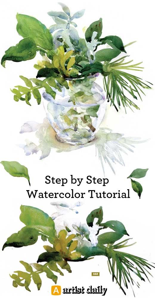 Step by step watercolour tutorial for free!