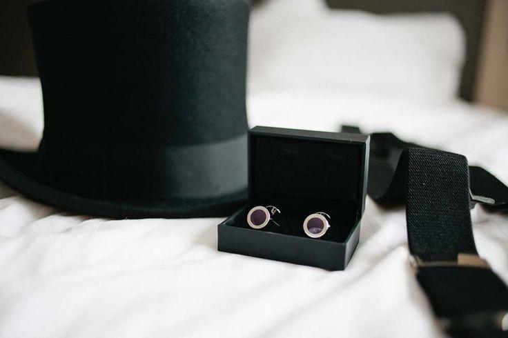 Die Ausstattung für den #Bräutigam: Manschettenknöpfe, Hosenträger und Zylinder