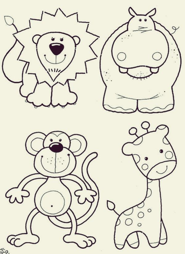 How To Draw Cute Animals 45 Examples Greenorc Zoo Animal Coloring Pages Farm Animal Coloring Pages Animal Coloring Pages