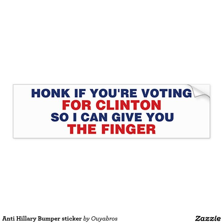 Anti Hillary Bumper sticker