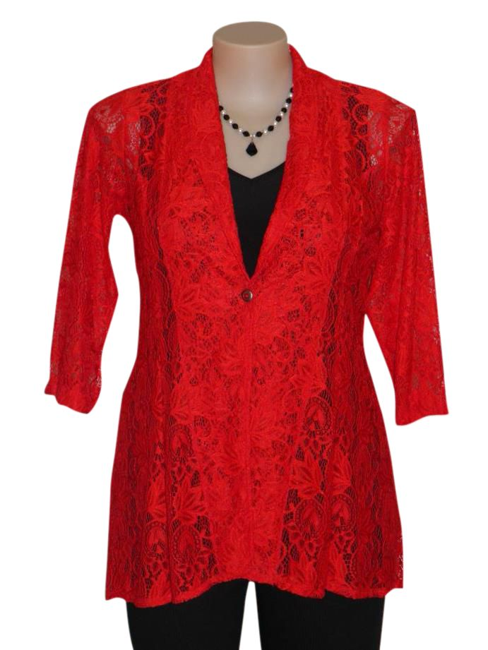 Stunning Frederico lace Jacket. Available in sizes 10-22