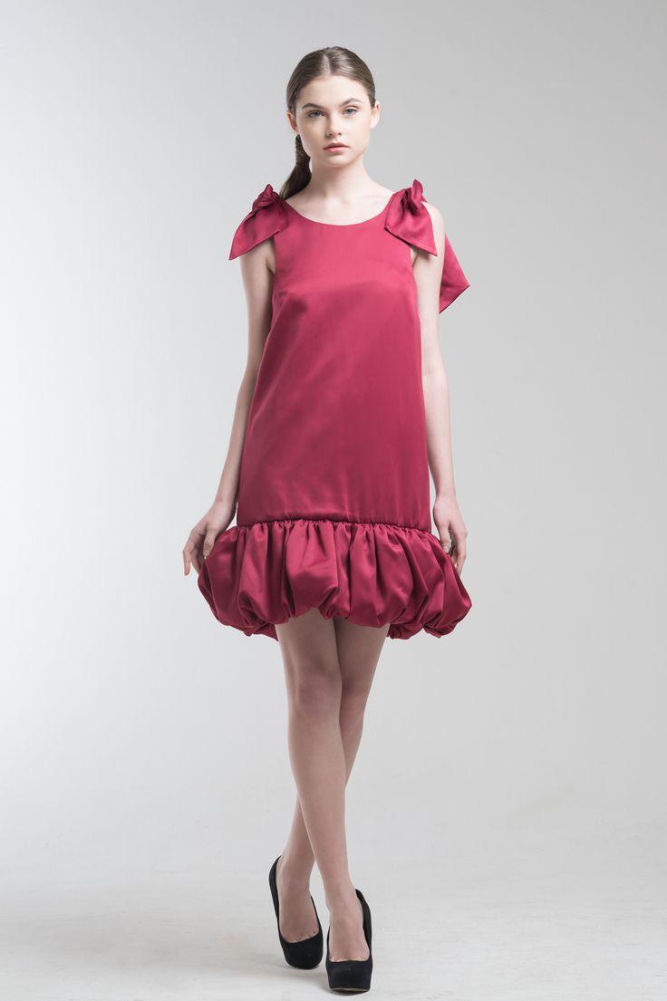 Liz Dress in Red from Jolie Clothing  #JolieClothing www.jolie-clothing.com  #Fashion #designer #jolie #Charity #foundation #World #vision #indonesia  #online #shop #stefanitan #fannytjandra #blogger
