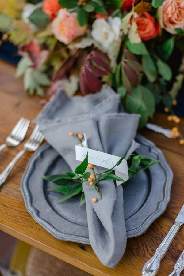 Rustic Autumn Place Setting Photography on @heyweddinglady via @aislesociety
