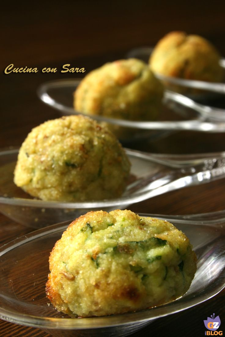 Polpette di zucchine - versione finger food