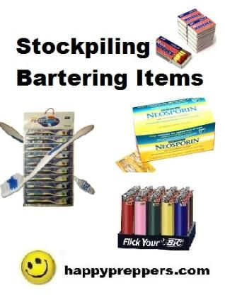 Bartering is among the four ways people have paid for things throughout history: barter, coins, paper and most recently, plastic (credit). We've assembled a list of the top items for preppers for bartering to help you prepare! http://www.happypreppers.com/bartering.html#