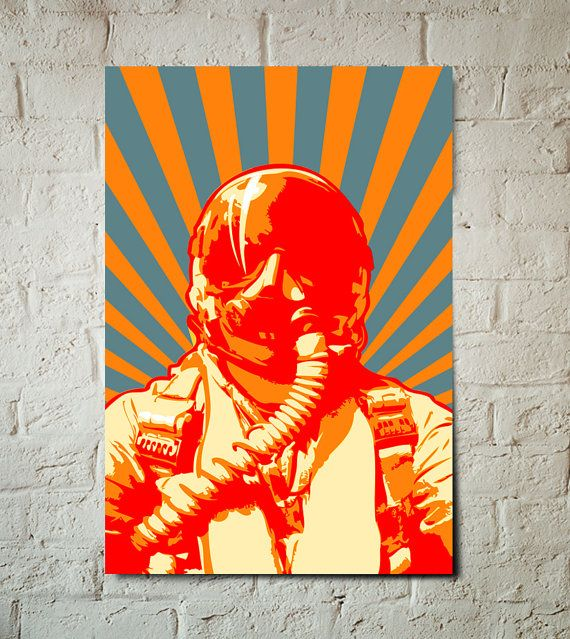 Vliegtuig Decor Art Print straaljager door MediaGraffitiStudio