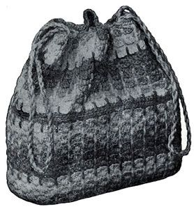 NEW! Crocheted Handbag pattern from Quick Crochet with Enterprise Yarn, Book No. 9305.