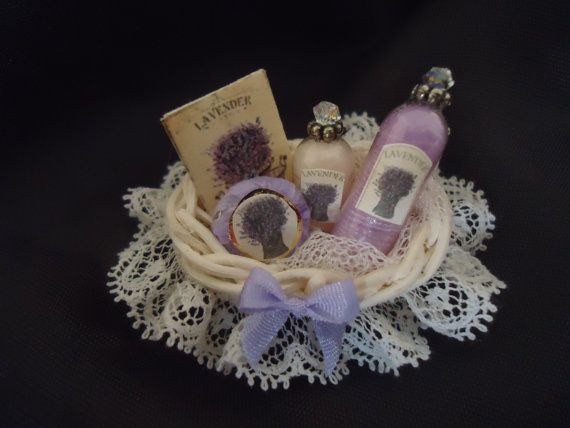 Luxury Lavender giftbasket 1/12th scale