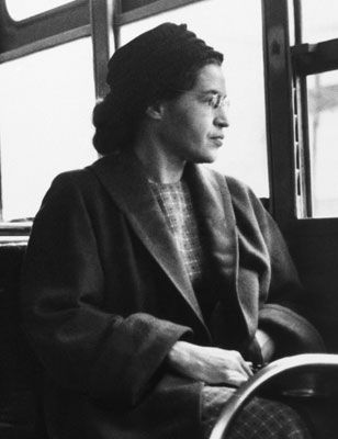 By refusing to leave her seat, Rosa Parks stood up for what's right.