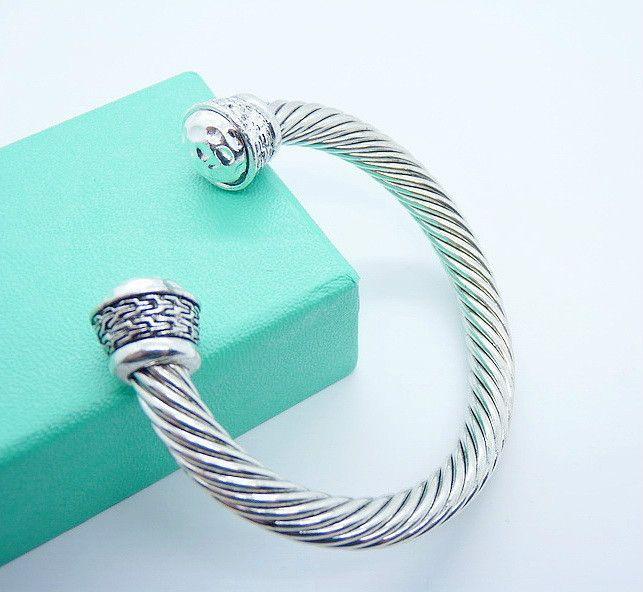 Серебряный позолоченный браслет оптовая продажа мода серебряный браслет манжеты / бесплатная доставка рождественские подарки для женщин / бесплатная доставка