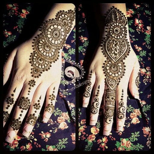 Henna done on the sister of the bride