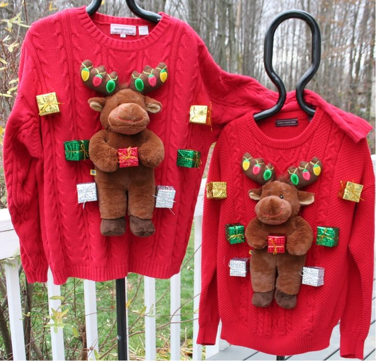 Matching Christmas Sweaters for Couples | ... Christmas Sweater ~ Matching Couples Moose Sweaters Size L & XL