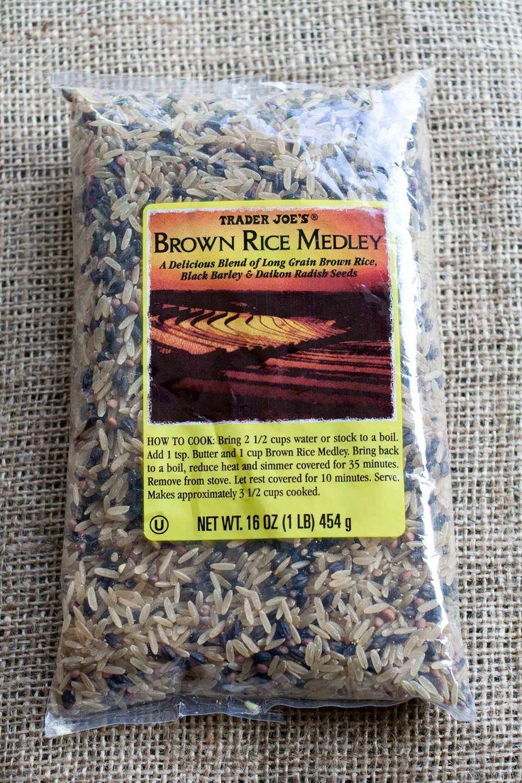 Trader Joe's Brown Rice Medley  Long Grain Brown Rice, Black Barley, And  Daikon