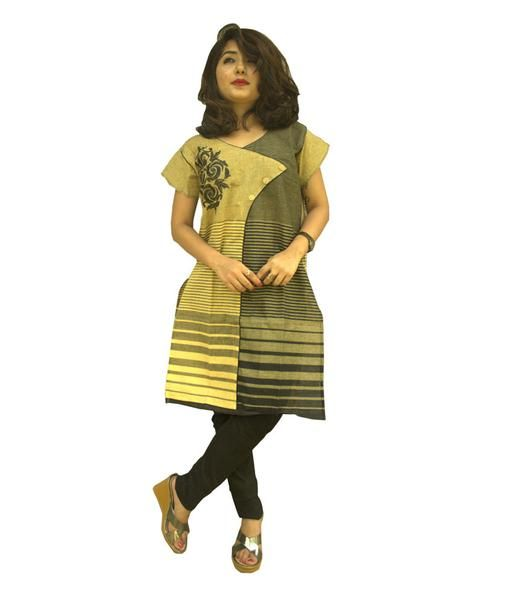 LadyIndia.com #Stitched Kurti, Garg Fashion Daily Wear Yellow Designer Cotton Stitched Kurti, Stitched Kurti, Kurtas, Daily Wear Kurti, Designer Kurti, https://ladyindia.com/collections/ethnic-wear/products/garg-fashion-daily-wear-yellow-designer-cotton-stitched-kurti